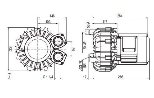 конструкция воздуходувки becker sv двухступенчатая