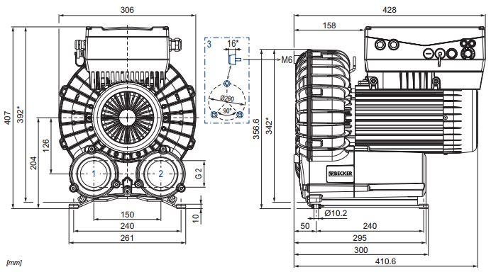 конструкция воздуходувки becker variair