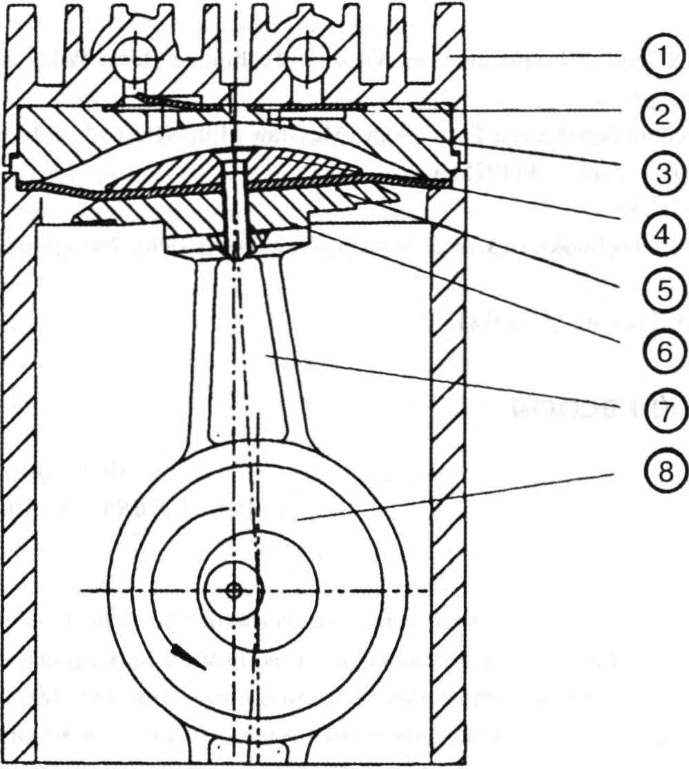 схема ступени диафрагменного насоса